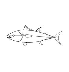 tuna fish outline vector image