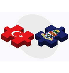 Turkey and Cayman Islands vector image