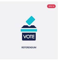 Two color referendum icon from general concept vector