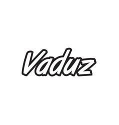 Vaduz europe capital text logo black white icon vector