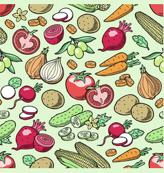 vegetables healthy nutrition of vegetably vector image