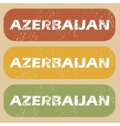 Vintage Azerbaijan stamp set vector image