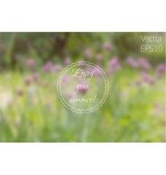 Wild Pink Clover Flowers in the Meadow vector