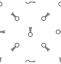 cat medal pattern seamless black vector image vector image