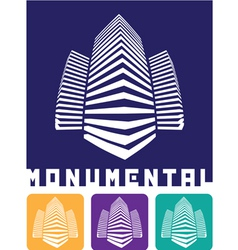 monumental construction vector image