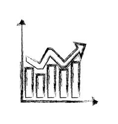 sketch chart statistics graphs arrow business vector image
