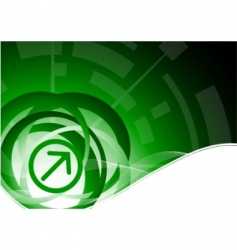 vector tech green background vector image vector image