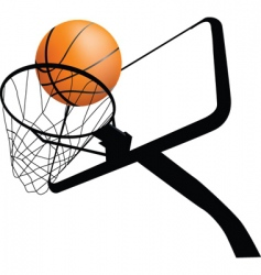 Basketball hoop dynamic vector