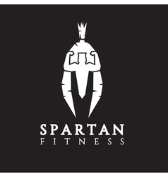 Bodybuilder as part of the spartan helmet concept vector