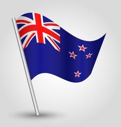 flag new zealand vector image