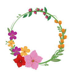 flowers spring crown decoration vector image vector image