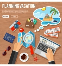 Planning Vacation Concept vector image vector image