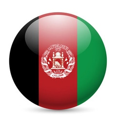 Round glossy icon of afghanistan vector image vector image