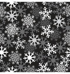 Snow black pattern vector