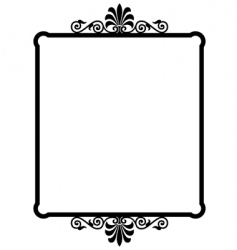 wrought iron frame vector image vector image