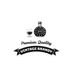 brandy bottle premium quality vector image