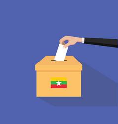 burma vote election concept with vector image vector image
