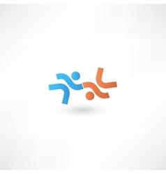 Business icon Handshake Transaction vector image