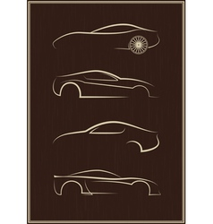 Calligraphic car logo set vector image vector image