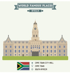Cape Town vector image