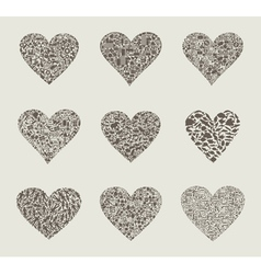 Heart design an element vector image vector image
