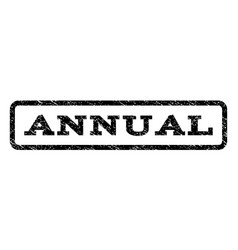 annual watermark stamp vector image vector image