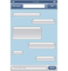 Chat template vector image