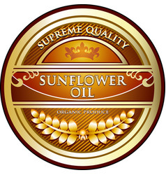 sunflower oil icon vector image