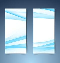 Vertical halftone gradient blue banner set vector image vector image