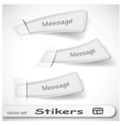 white stickers vector illustration vector image