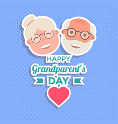 Abstract happy grandparents day background vector