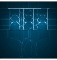 Abstract technology technical drawing vector image