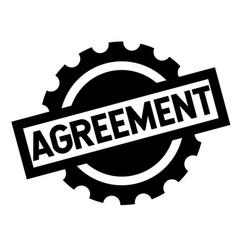 Agreement black stamp vector
