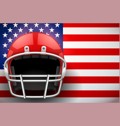 American football helmet and us flag vector