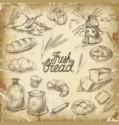 bakery bread vector image