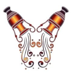 Bright amphora zodiac Aquarius sign vector image