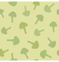 Broccoli seamless pattern vector