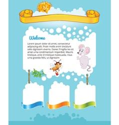 Cartoon kid web site vector