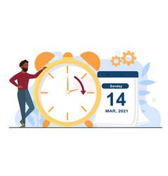 Change your clocks concept vector