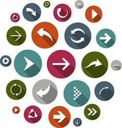 Cloud set of round modern arrow icons vector image