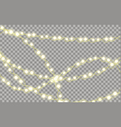 colorful glowing garland for new years and vector image