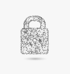 concept cyber security lock made vector image