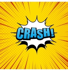 Crash comic cartoon vector image
