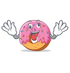 crazy donut mascot cartoon style vector image