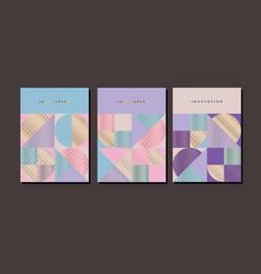 Elegant luxury geometric poster set vector