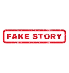 Fake Story Rubber Stamp vector