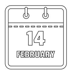 February calendar icon outline style vector