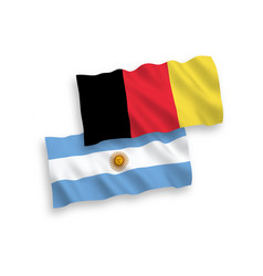 Flags belgium and argentina on a white vector