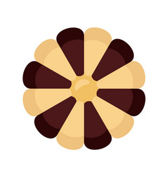 Flower biscuit icon flat style vector