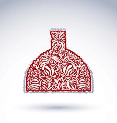 Flower-patterned decorative bottle alcohol theme vector image